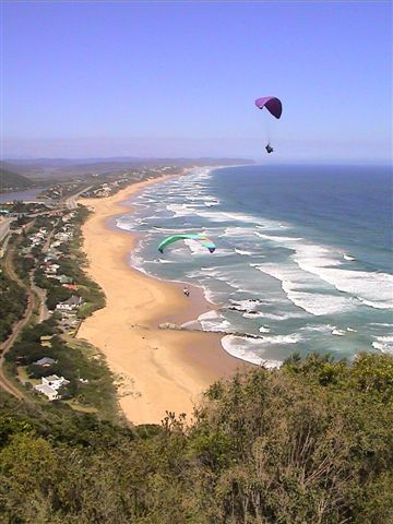 Paragliding from the Map of Africa